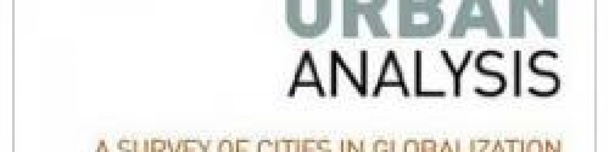 Libro. Global urban analysis. A survey of cities in globalization