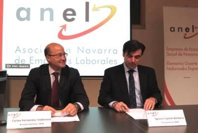 Carlos Fernández Valdivielso, director gerente de Sodena y responsable de CEIN, e Ignacio Ugalde, presidente de ANEL.