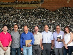 De izquierda a derecha, Juan Carlos Sánchez (Indumetal Recycling), Rubén Ealo (Zicla Euskadi), Ander Elgorriaga (IHOBE), Goio Borge (Zicla Euskadi), Rafael Migue (Gaiker-IK4), Manuel Aduna (Aligoplast) y Dorleta Guarde (Indumetal Recycling)