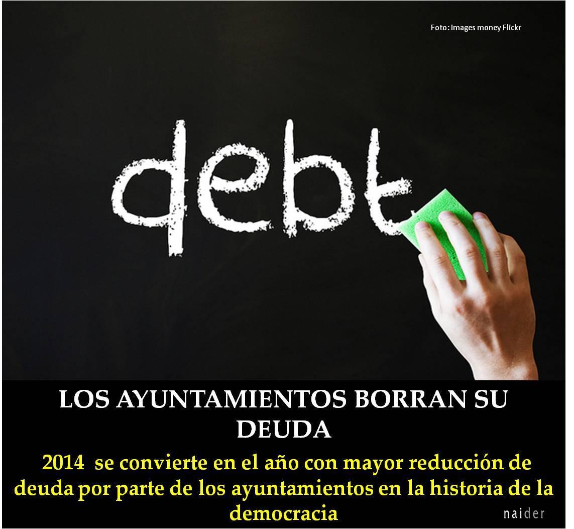 Ayuntamientos borran deuda