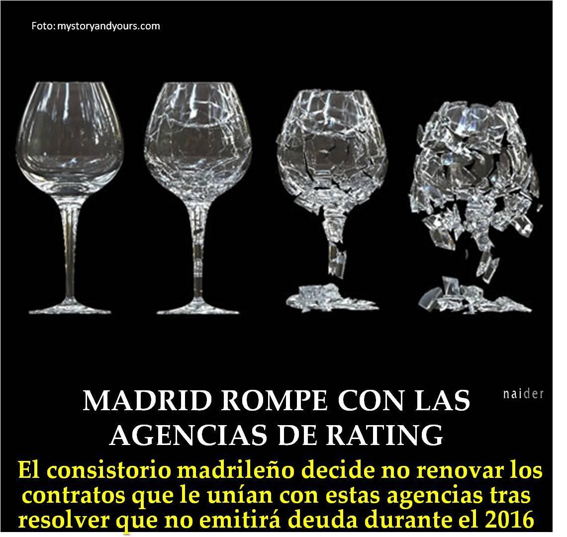 Madrid rompe con las agencias de rating