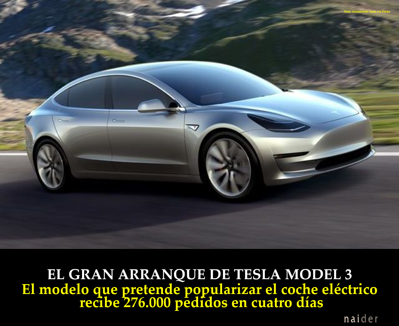 El gran arranque de Tesla Model 3