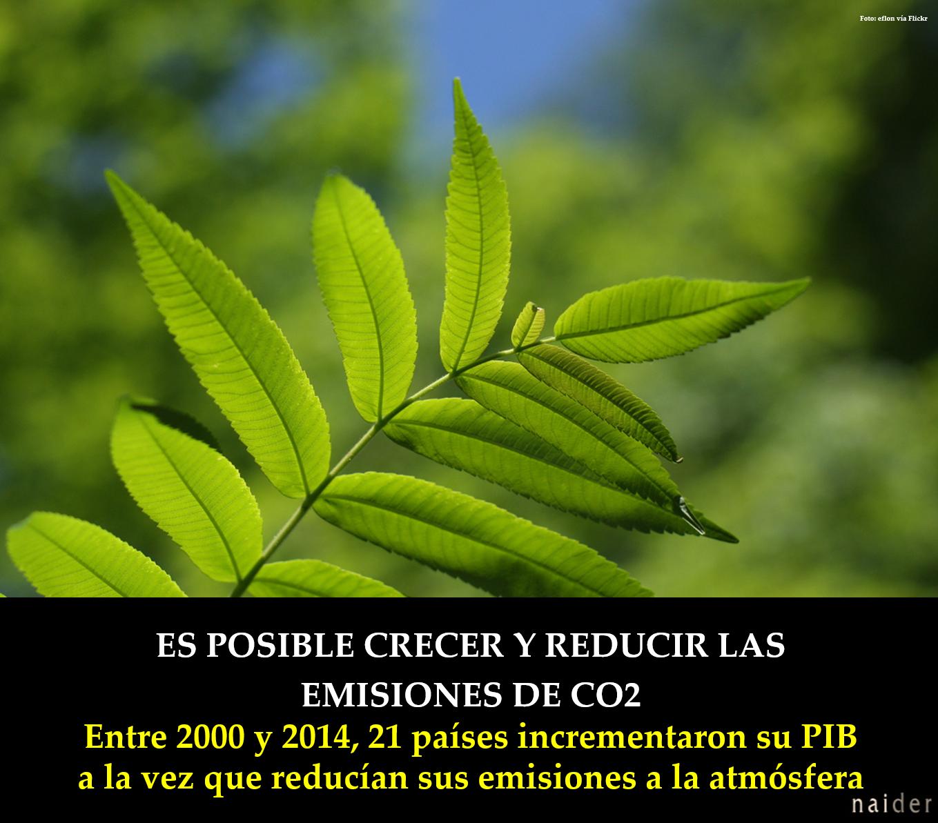 Es posible crecer y reducir las emisiones infopost