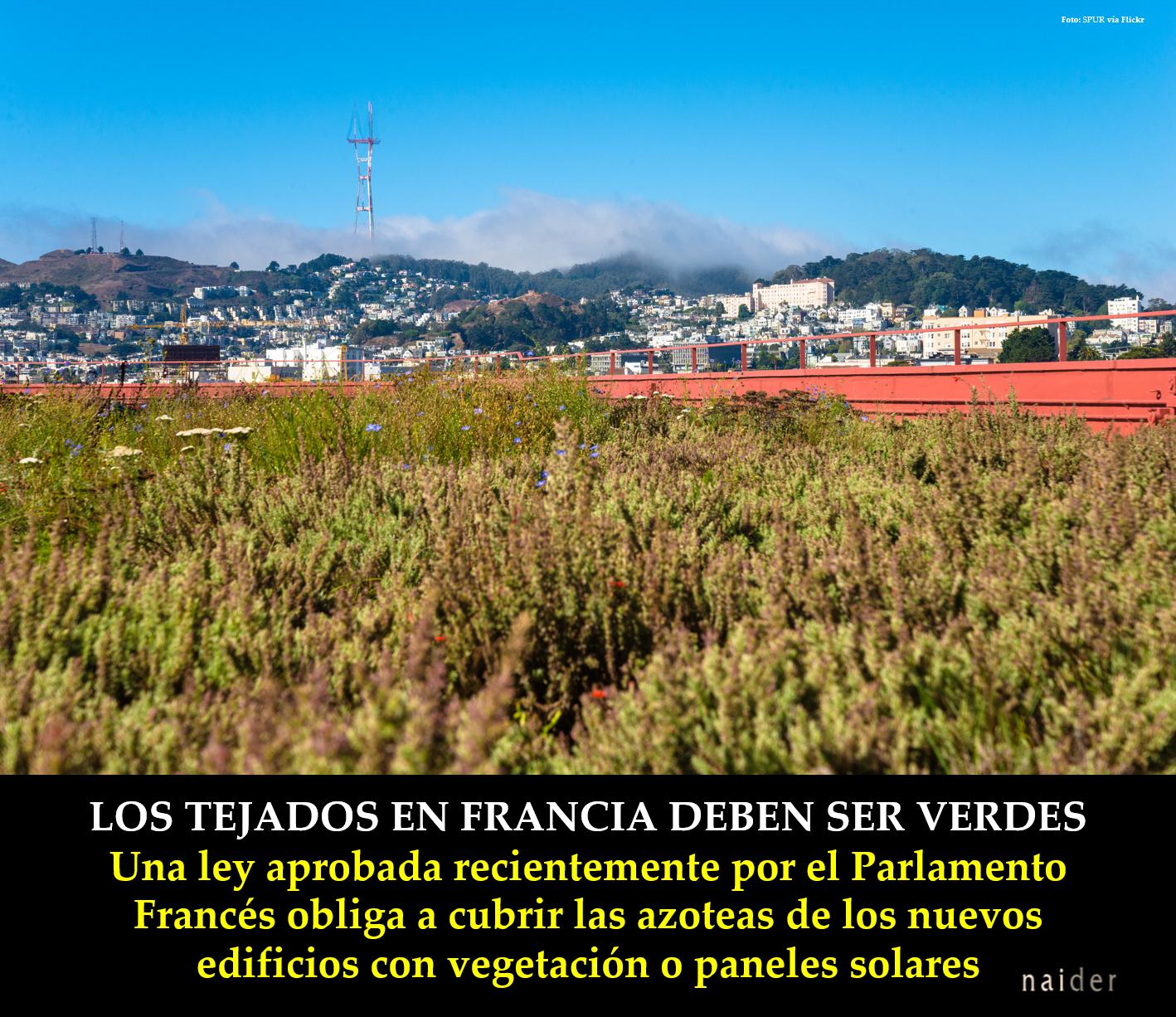 Los tejados en Francia deben ser verdes infopost1