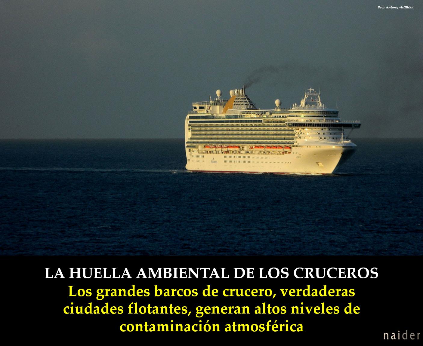 La huella ambiental de los cruceros infopost