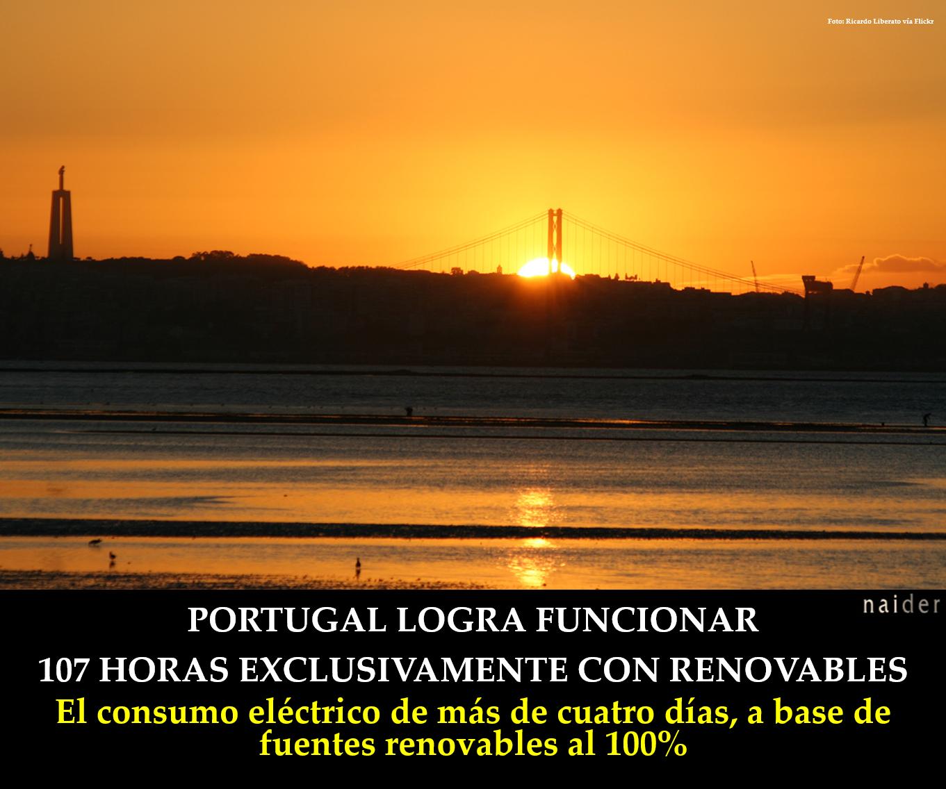 Portugal funciona 107 horas renovables infopost