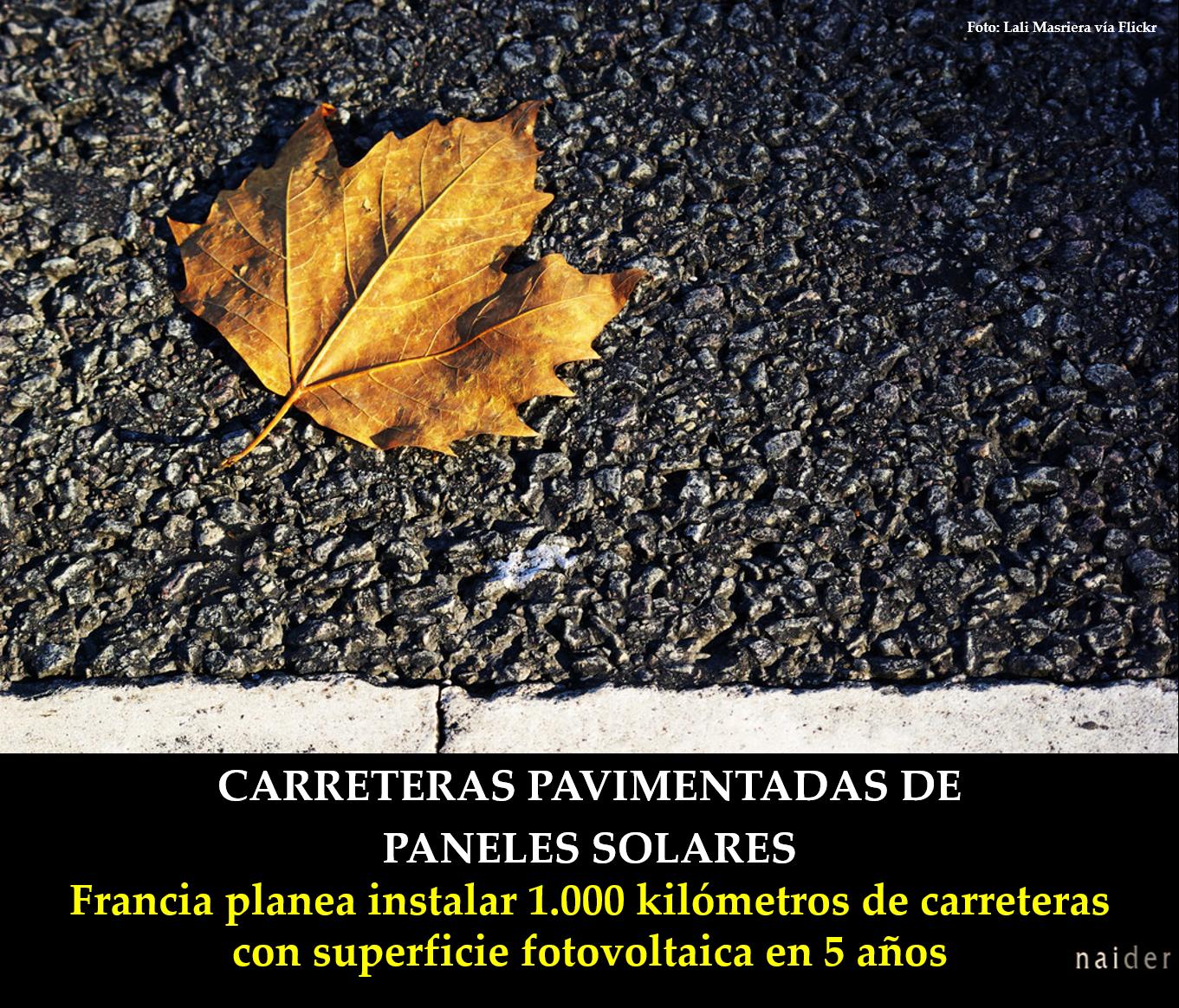 Carreteras pavimentadas de paneles solares infopost