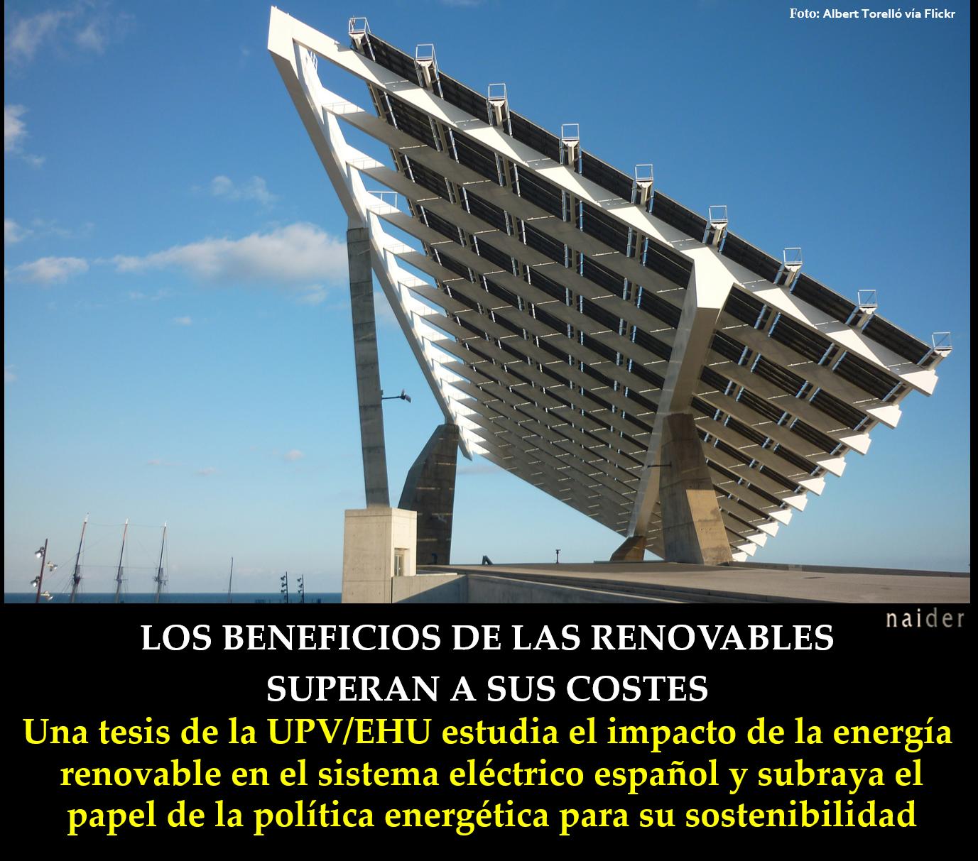 Los beneficios de las renovables superan a sus costes infopost