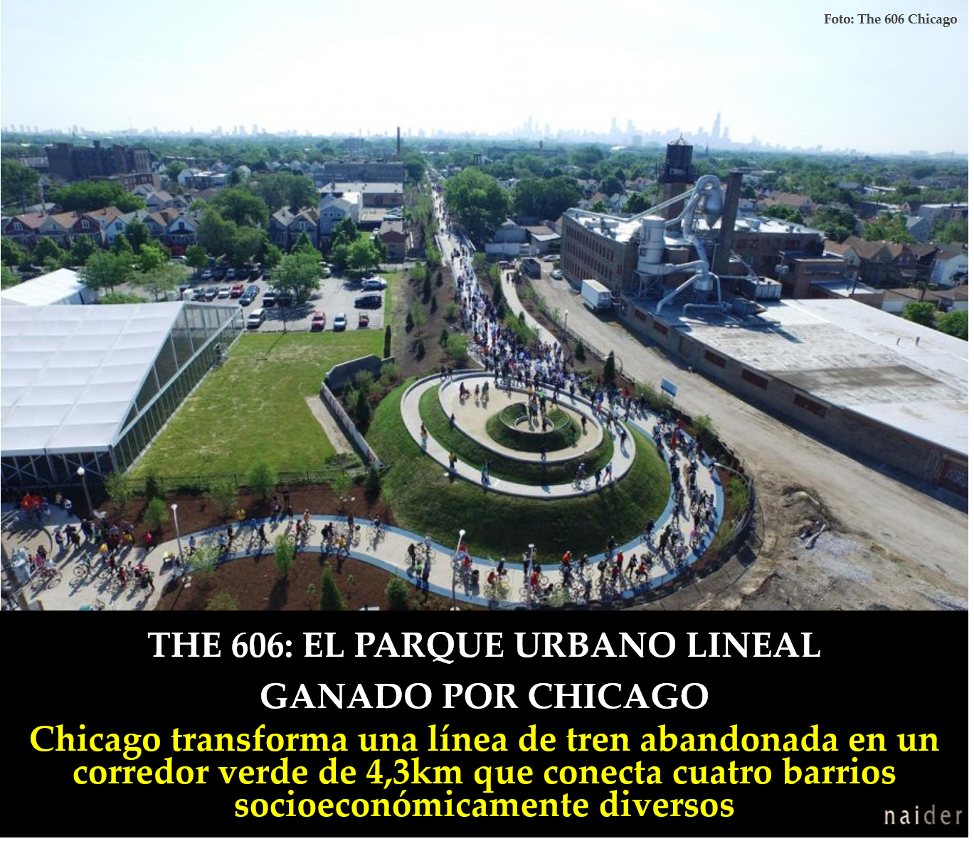 The 606 parque lineal Chicago infopost